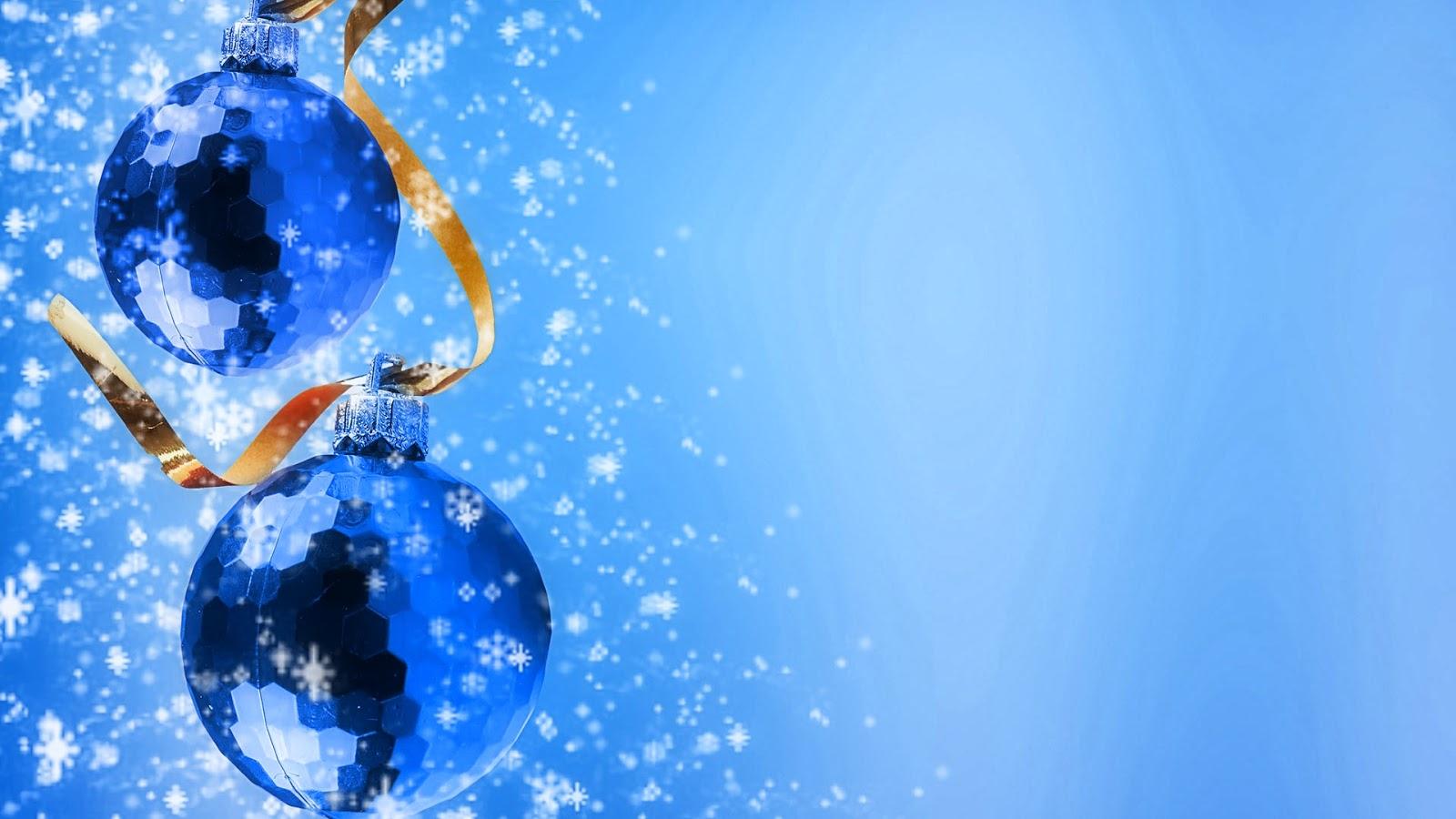 Fondo de Pantalla Navidad bolas de colores azules : Imagenes Hilandy