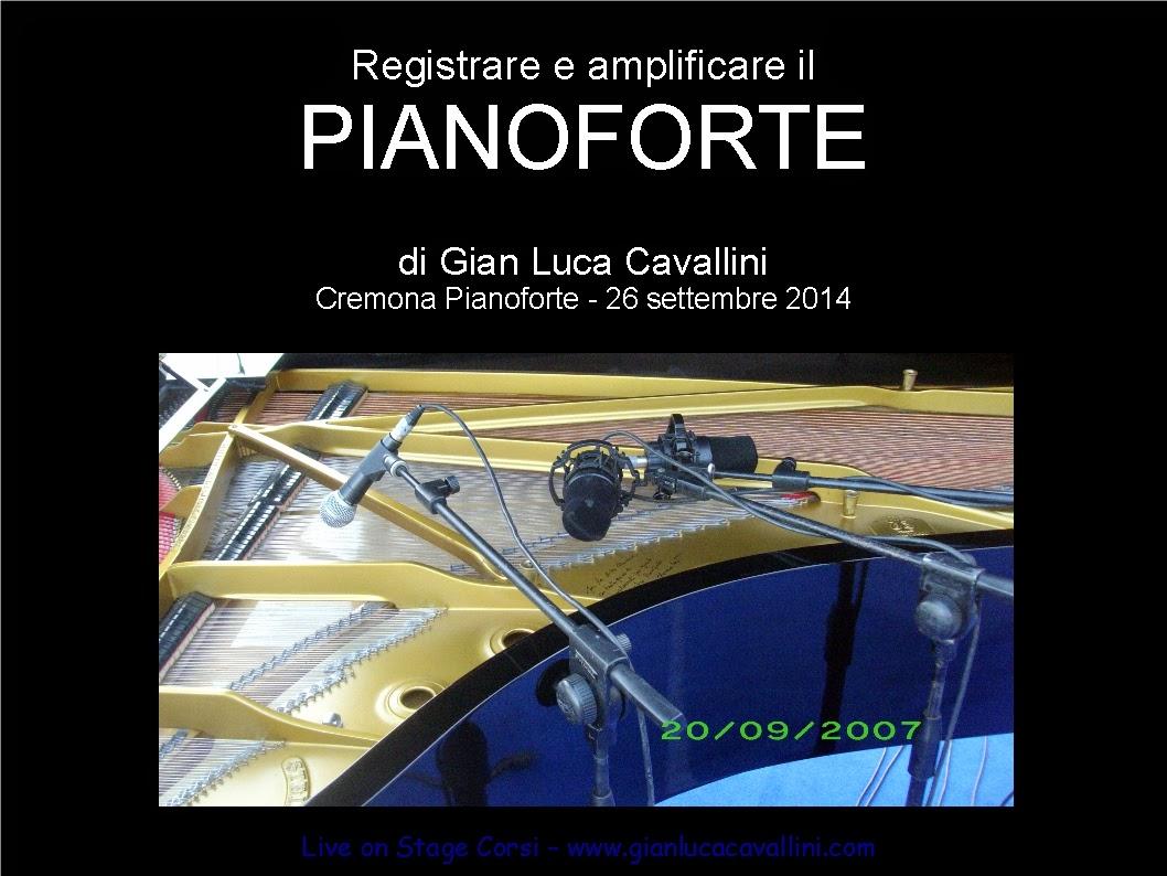 corso per sound engineer: l'amplificazione del pianoforte