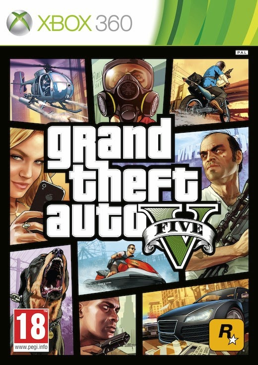 Cover Caratula Grand Theft Auto V GTA V XBOX 360