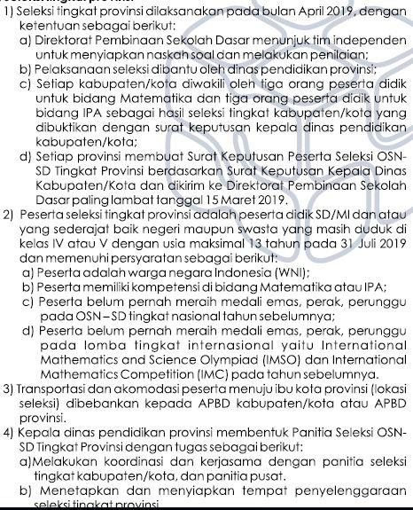 Seleksni OSN SD/MI Tahun 2019 Tingkat Provinsi-https://riviewfile.blogspot.com/