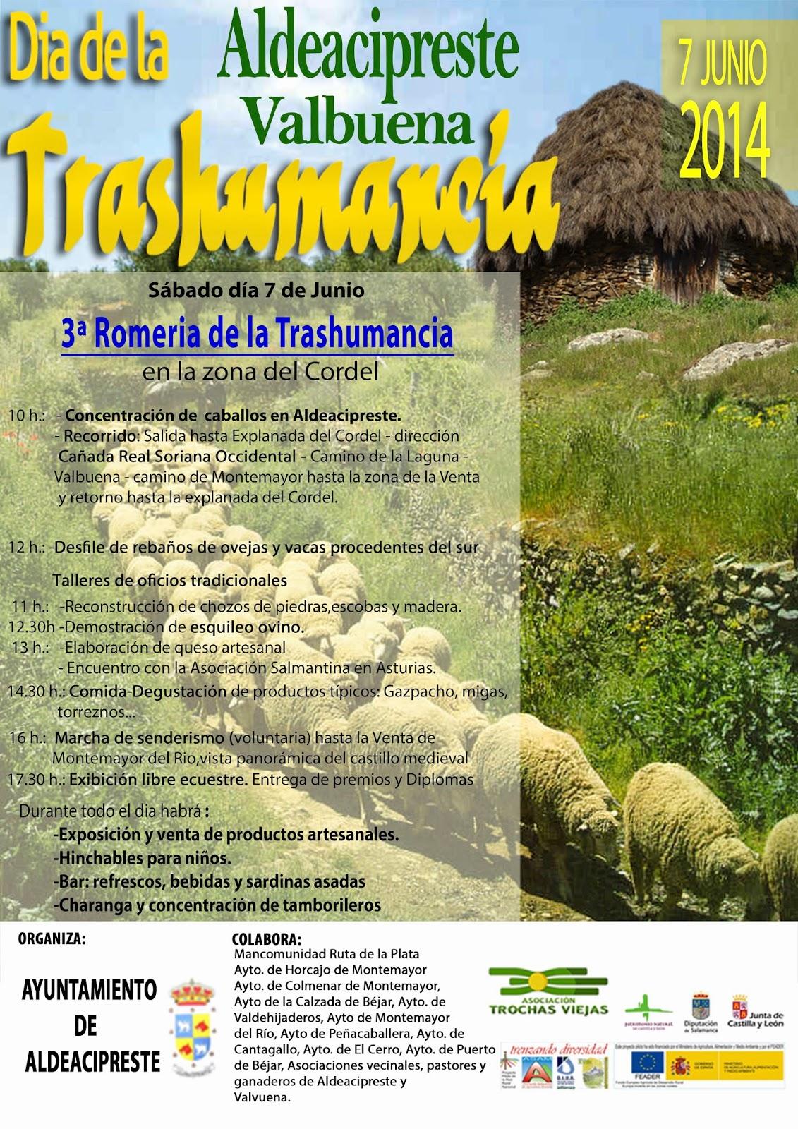 7/Junio. III Romería de al Trashumancia. Aldeacipreste. Valbuena