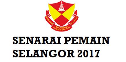 Pemain Selangor fa 2017