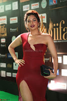 Natasha Nebasha in a Leg Slit Sleeveless Stunning Red Gown at IIFA Utsavam Awards 2017 065.JPG