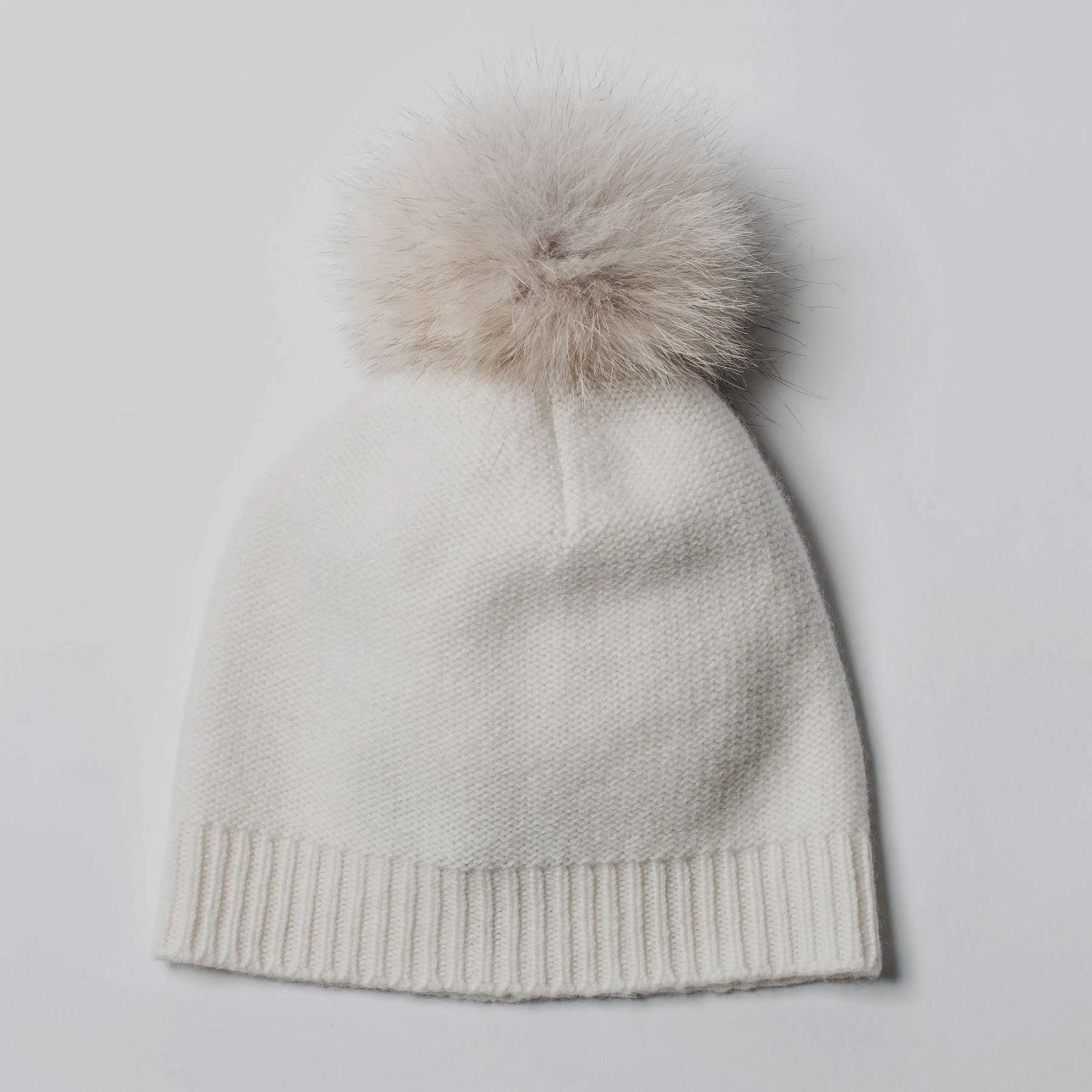Cashmere and Fur Pom Pom Hat!!  5569942a5ca