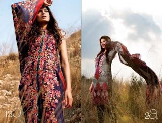 Sana Safinaz Lawn dresses 2013