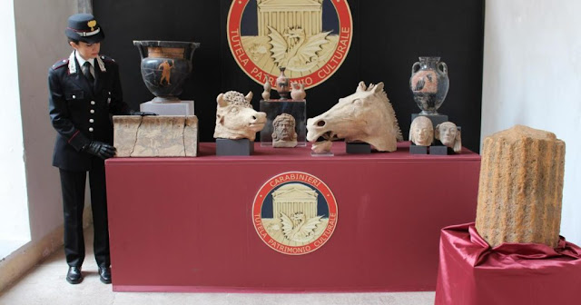 Italian police seize $1 million worth of antiquities in Lazio