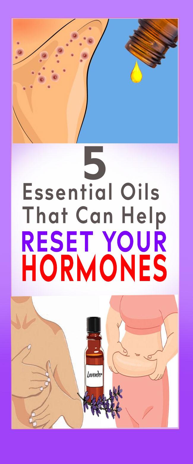 5 essential oils for reset harmones