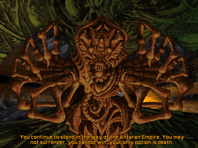 Screenshot of an Antaran from Master of Orion II
