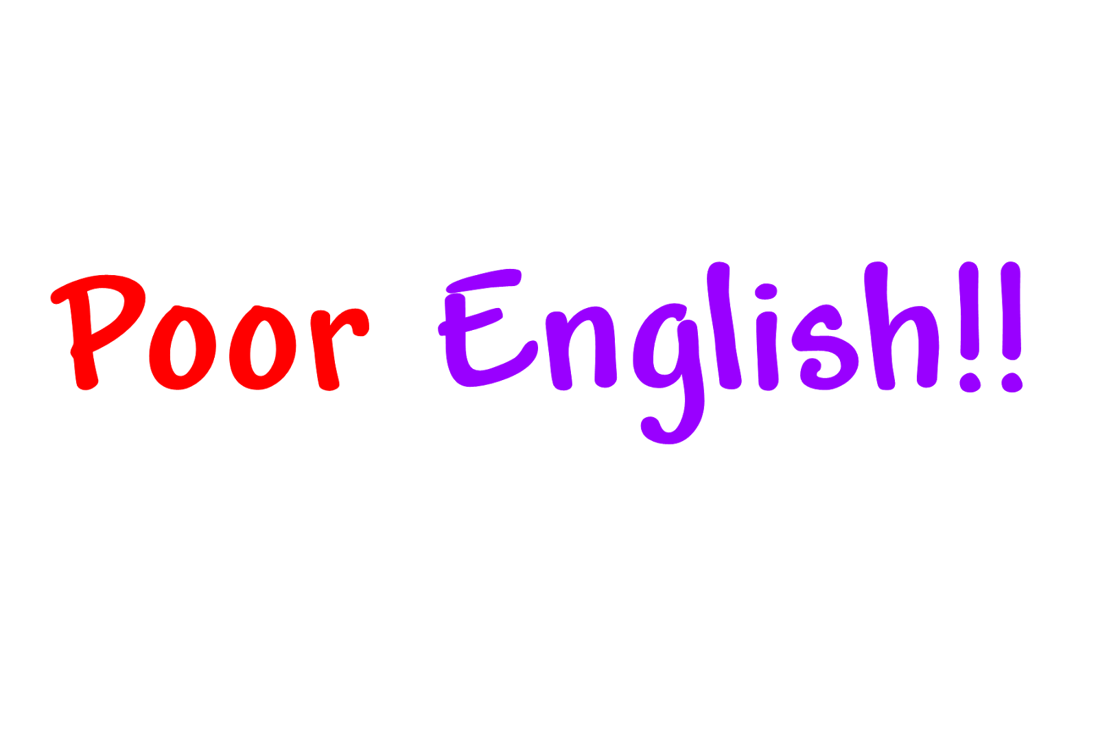 Poor performance of english subject