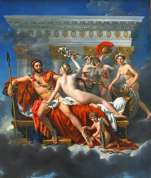 Marte Desarmado por Vênus e as Três Graças - David, Jacques-Louis e suas principais pinturas ~ Representante do neoclassicismo