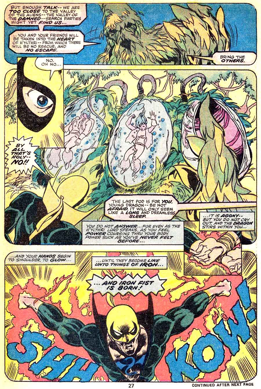 Iron Fist v1 #2 marvel bronze age comic book page art by John Byrne
