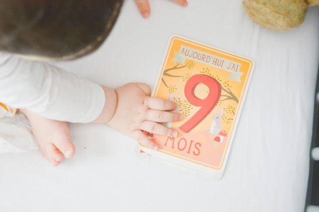 carte bébé milestone
