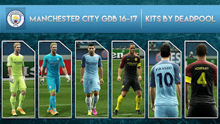 Manchester City Kits 2016-2017 OFFICIAL Pes 2013 by Deadpool