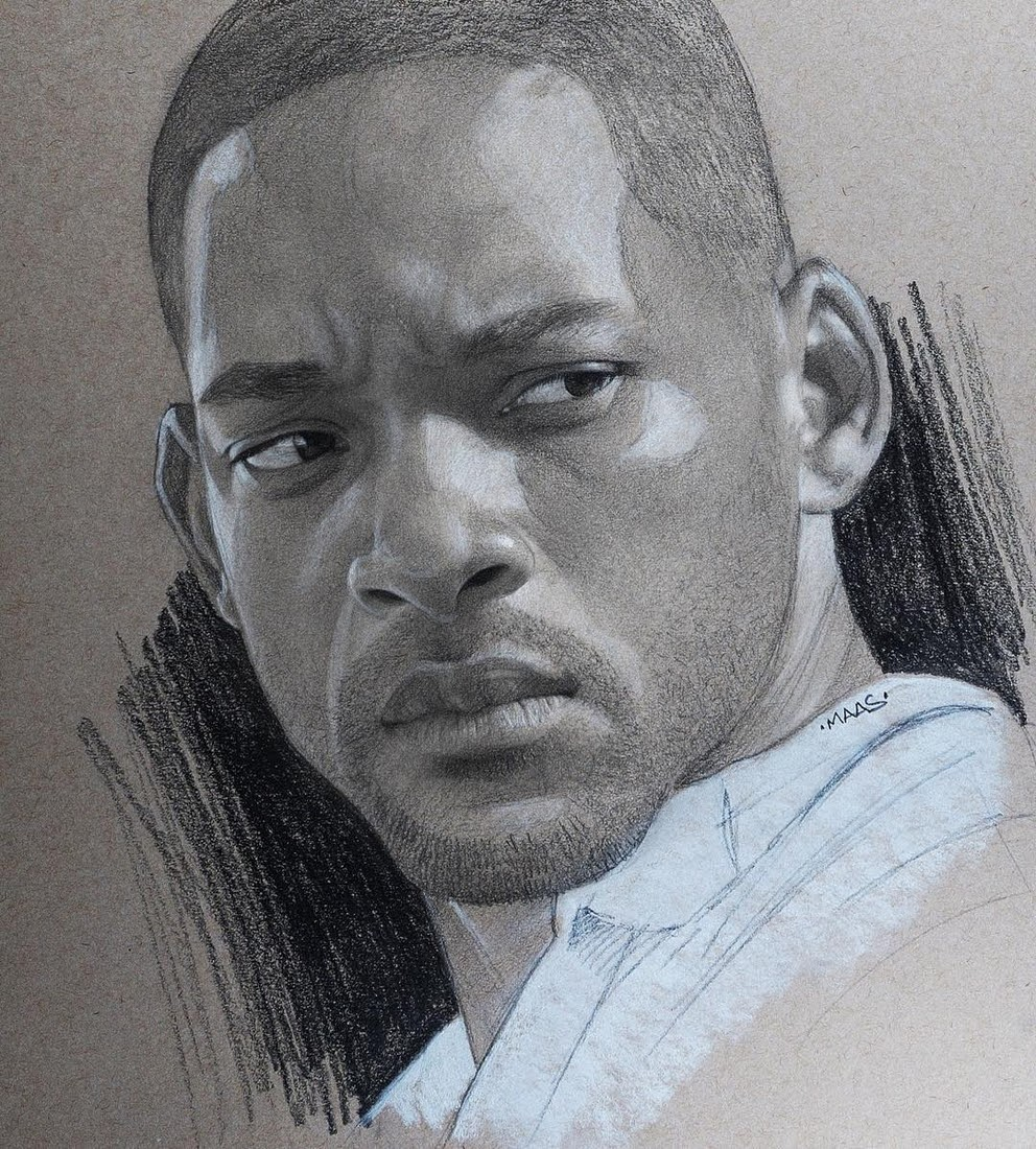 16-Will-Smith-Justin-Maas-Pastel-Charcoal-and-Graphite-Celebrity-Portraits-www-designstack-co