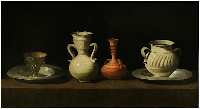 Francisco de Zurbaran -nature morte avec pots,ca  1650