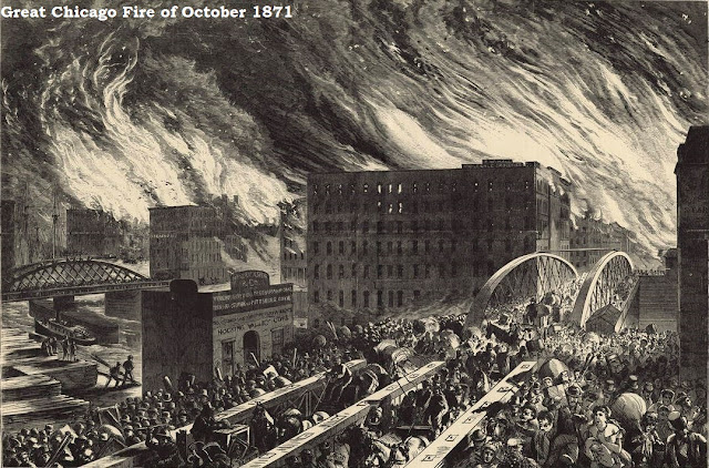 Great Chicago Fire of October 1871 destroyed nearly every real estate investment Horatio owned and this ruined him financially.