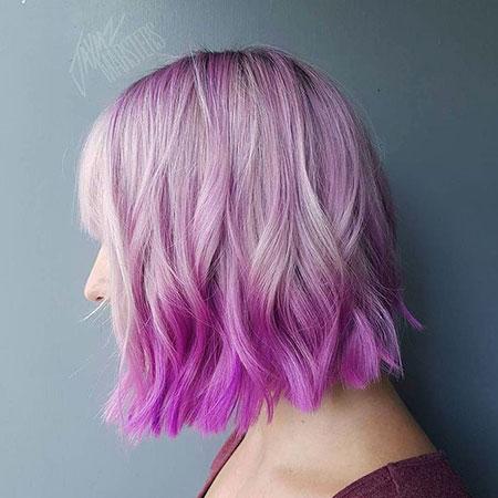 ombre short hair purple
