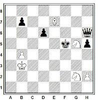 Estudio artístico de ajedrez de José Mandil, SEPA-1948
