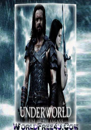 Poster Of Underworld: Rise of the Lycans In Dual Audio Hindi English 300MB Compressed Small Size Pc Movie Free Download Only At worldfree4u.com