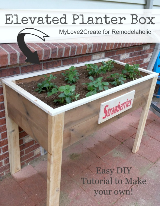 Make your own Elevated Planter box with free building plans at MyLove2Create