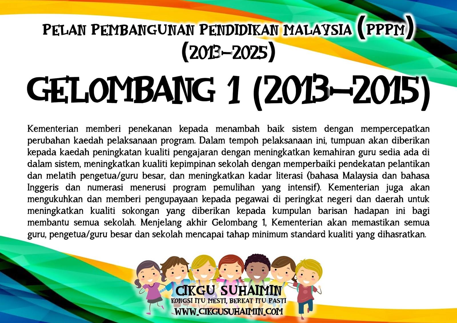 3 Gelombang Pelan Pembangunan Pendidikan Malaysia Pppm 2013 2025
