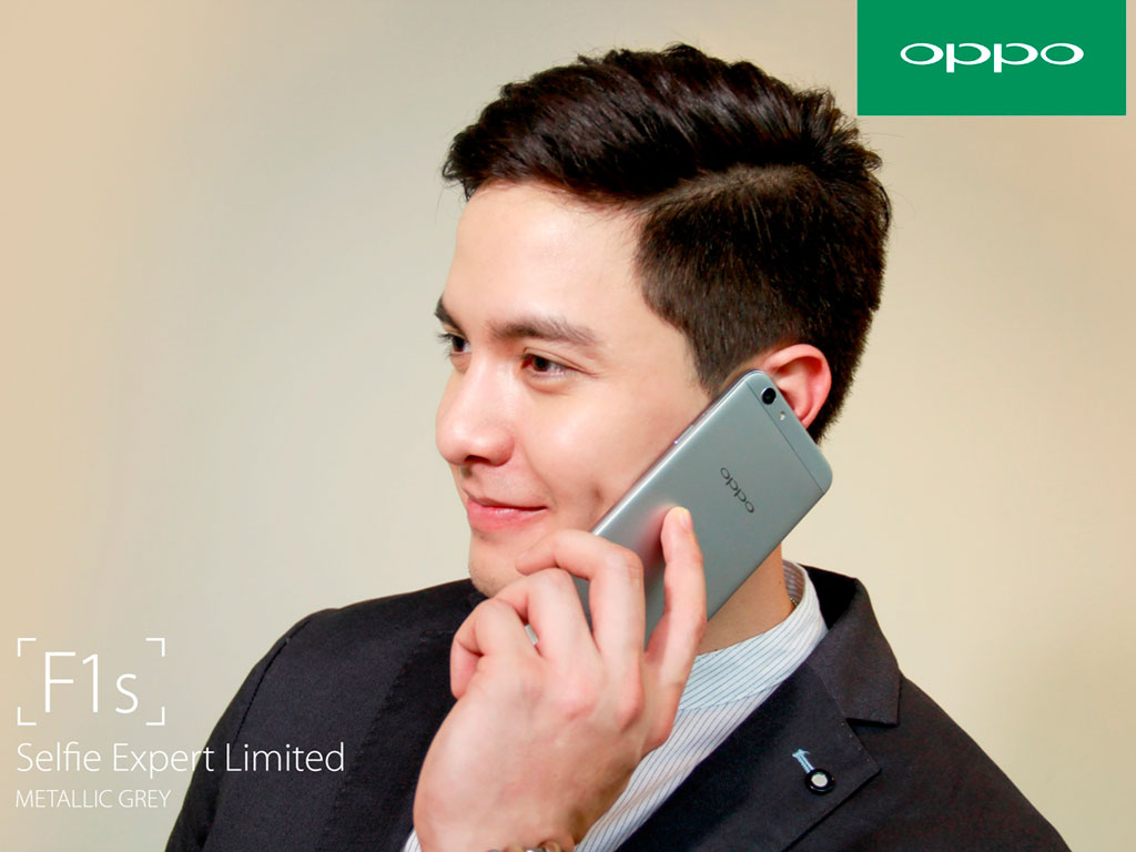 Alden Richards for OPPO F1s Metallic Grey Limited Edition