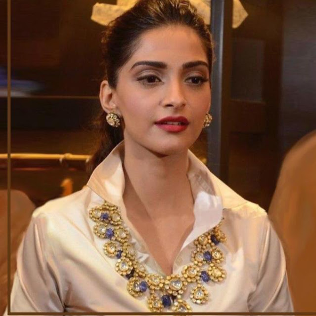 Sonam Kapoor Bridal Polki Haram designs
