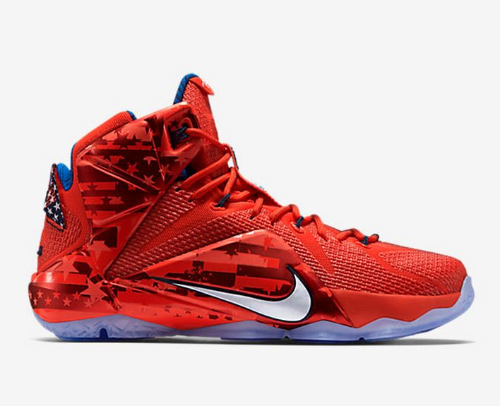 236306dfffbd7 MY SPIZZOT  Nike Lebron 12 Independence Day shoes (Detailed Review)