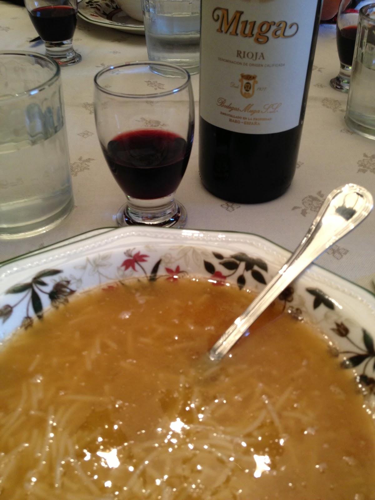 Sopa de cocido - receta - el gastrónomo - el troblogdita - Rioja - Muga