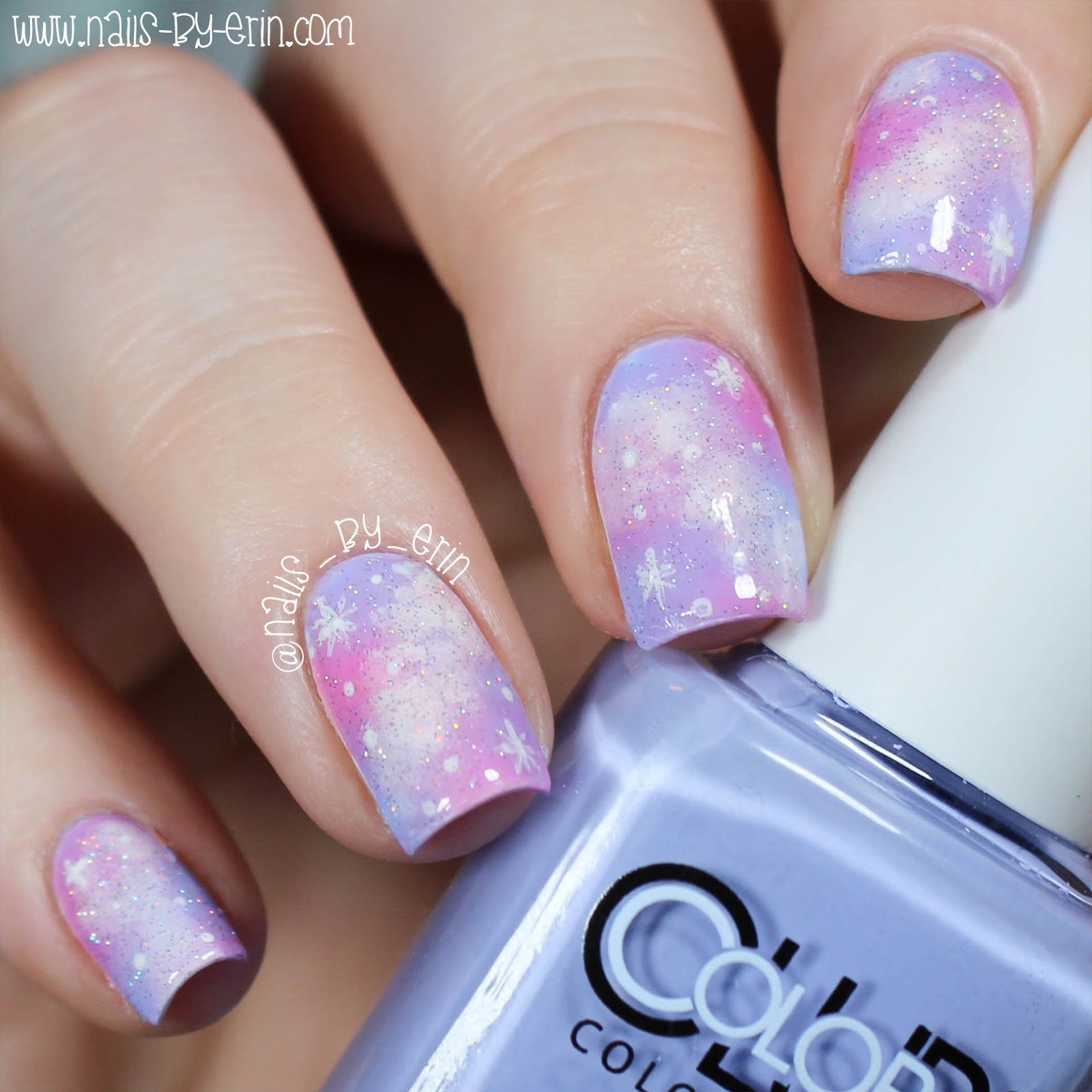 NailsByErin: Pastel Galaxy Nails