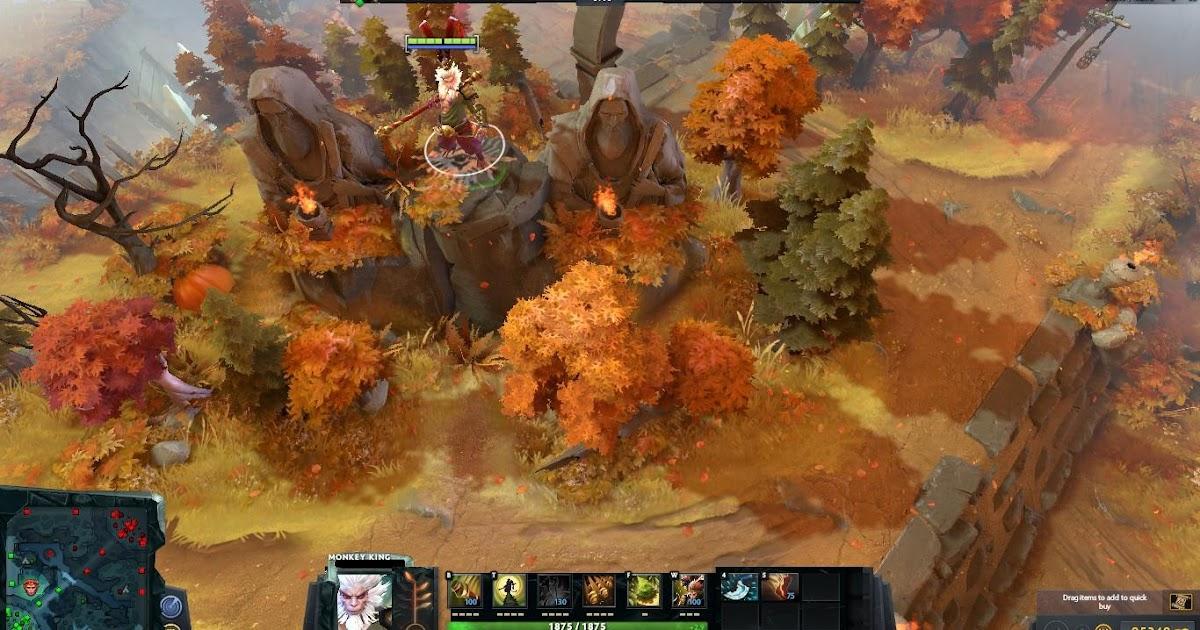 Seasonal Terrain Autumn Dota 2 Mods