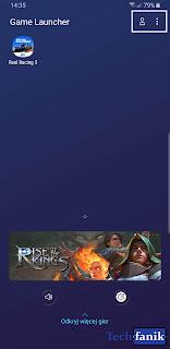 Samsung Game Launcher ekran główny aplikacji