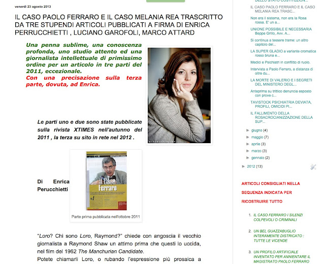 http://paoloferrarotrumanshowstory1.blogspot.it/2013/08/il-caso-paolo-ferraro-e-il-caso-melania.html