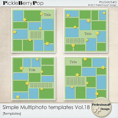 New Simple Multiphoto templates Vol.17 and Vol.18 - 30% off