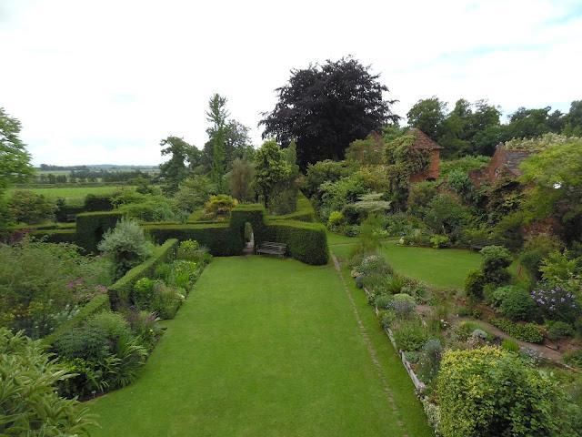 widok ogrodu z góry