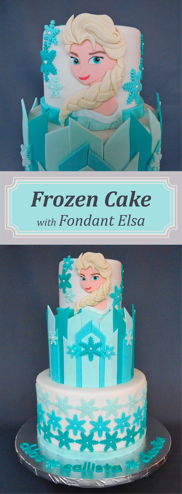 Frozen Cake - Elsa Cake