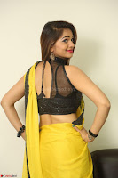 Cute Actress Ashwini in Yellow Saree Exclusive  051.JPG