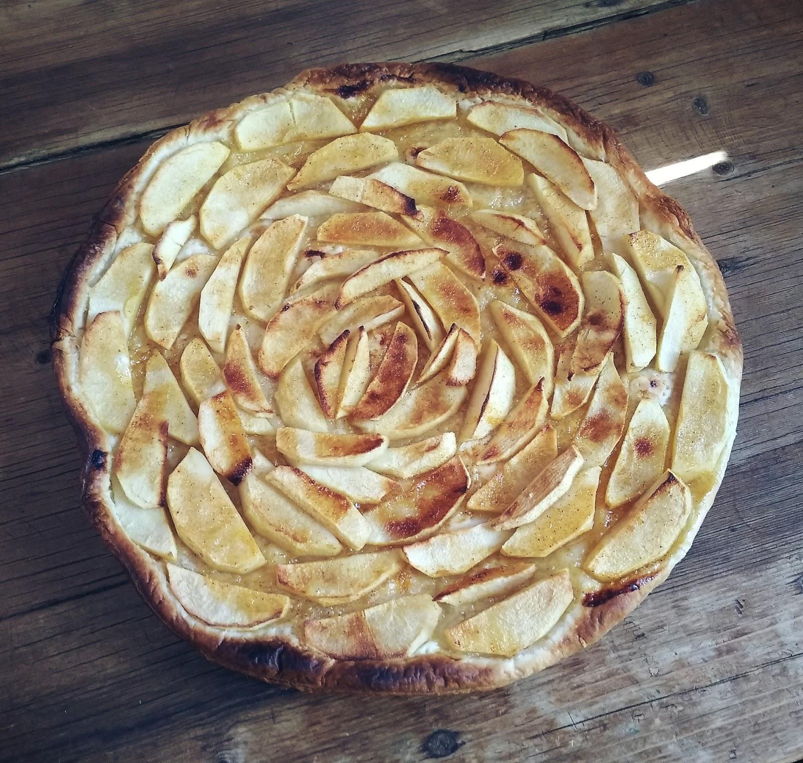 Hojaldre de manzana bajo en azúcar