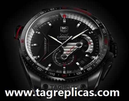 f9fe84f6e874 TAG Heuer Grand Carrera Calibre 36 RS Caliper Concept CAV5185.FT6020 Mens  Chronograph Watch