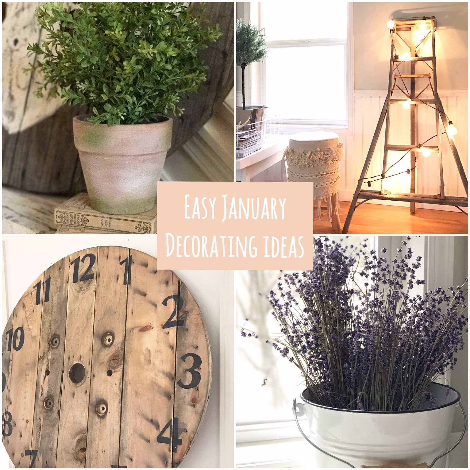 Little Farmstead  Four Easy January Home Decorating Ideas  Farmhouse     Let there be lights  and ladders