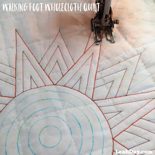 walking foot quilting with Leah Day