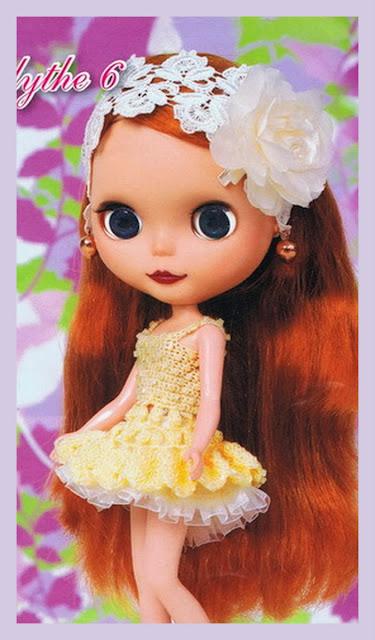 Vestido de Crochê Para Blythe
