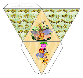 Caja con forma de pirámide de La Selva Bebés.