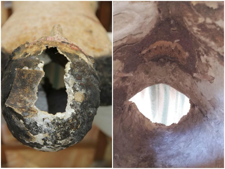 Cabeza de Cristo. Exterior y interior rostro