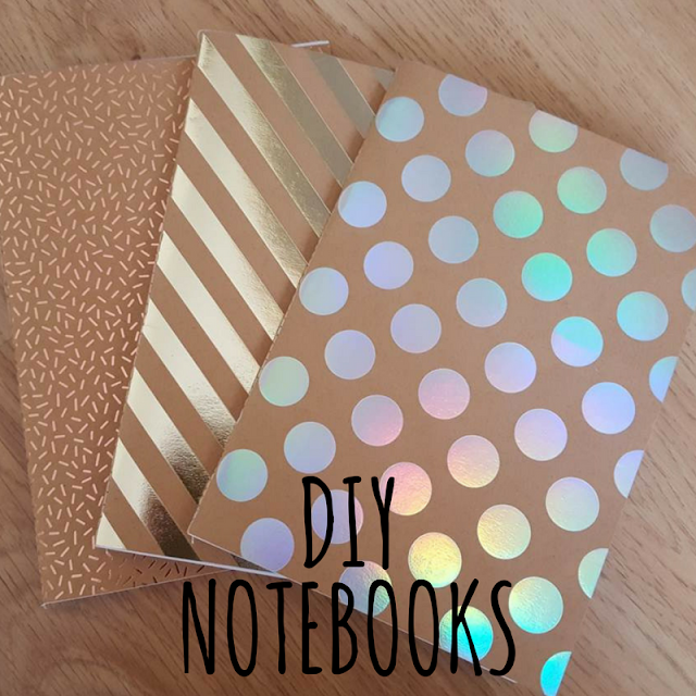 Hotfoil DIY notebooks tutorial