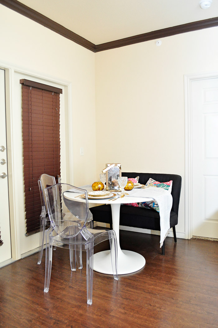Dining room facelift for under $50 using gorgeous decor and tableware finds from @Marshalls