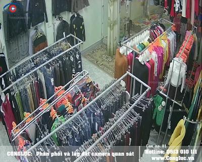 Lắp camera trọn gói cho shop thời trang