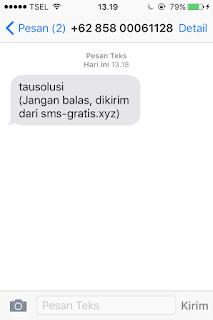 Tutorial Kirim SMS Gratis Tanpa Pulsa ke Semua Operator 7
