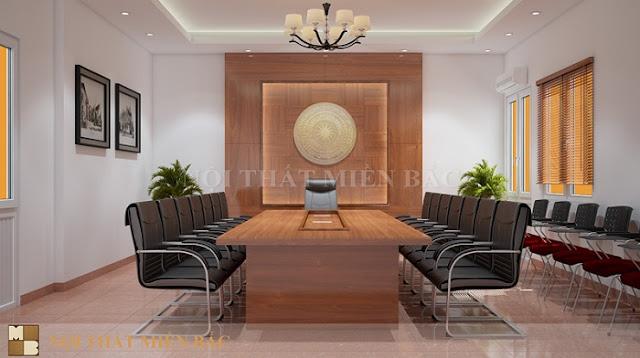 Mẫu thiết kế nội thất phòng họp đầy tiện nghi - H3