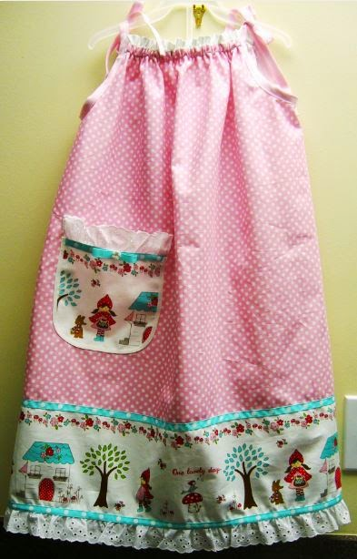 Pillow case style dress in celebration of Dress A Girl Around the World's fifth birthday.